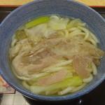 小諸そば - 香味豚うどん:450円