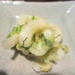 陣や大船本舗 - 白菜と大葉の漬物アップ