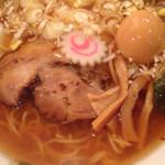 まる田 - 中華蕎麦美味、奥久慈煮玉子レア