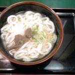 立ちそば処 杜 - 牛タンスープうどん:400円(税込)【2014年3月撮影】