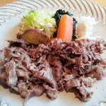 24729042 - 【ざくろの和食コース】国産牛ロースバター焼き