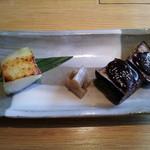 24729051 - 【ざくろの和食コース】銀鱈西京焼と茄子田楽