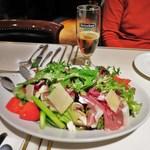 サヴィニ - 再訪:生ハムとモッツアレアチーズのサラダ