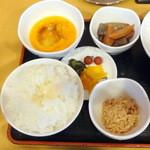 元禄そば 江戸一 - 朝定食500円のご飯ポーション