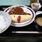 田や - ハンバーグ&オムライス定食