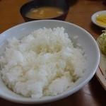 三原屋食堂 - ライス