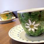 橘珈琲店 - 九谷焼の綺麗なカップです