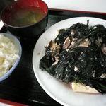 食堂花笠 - 豆腐ちゃんぷる~600円也