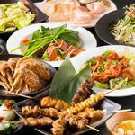 とりごこち - 宴会料理は大満足のボリューム!!とりごこちの人気串、釜飯、讃岐うどん、手羽先なども入っております。2000円~ご用意しております。