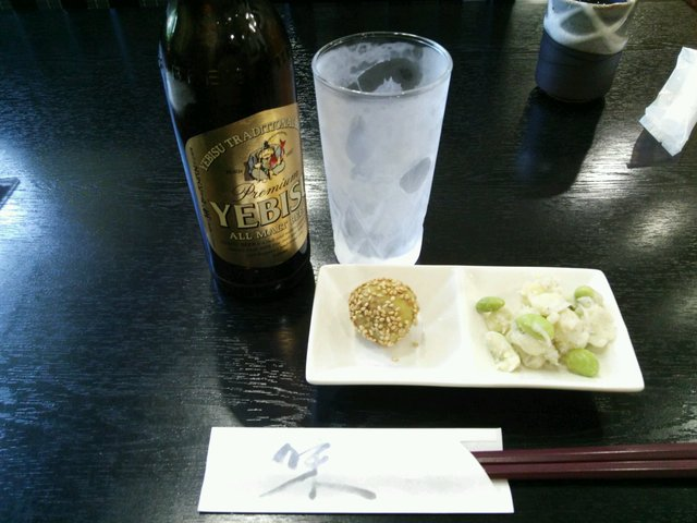 樹庵 - 恵比寿ビール小瓶 ¥500