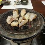 日間賀観光ホテル - ふぐづくし ふぐの魚醤焼き追加