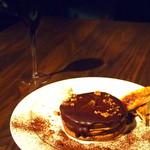 ココノマ シーズン ダイニング - チョコレートパンケーキのスパークリングワインセット