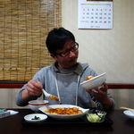 大連 - 陳マーボ豆腐定食 800円 + (新陳マーボ豆腐から陳マーボ豆腐変更) 200円 + ライス大盛 150円