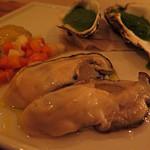 Fegato Forte - 三重県産 新鮮生牡蠣と牡蠣のプリン(600円)×2