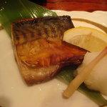 2475884 - 鯖のいしり焼き。いしりは奥能登の烏賊の肝で作る魚醤です。