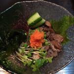 磯料理 元海 - 赤ナマコ