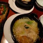 竹取物語 - 揚げ出し豆腐:420円+若鶏とシャキッと野菜の白湯鍋:780円