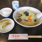 鳳凰閣 - 五目タンメンと餃子ライスセット 680円 ※金曜日日替わりランチ