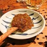浜田山新鮮組 - お通し、大根。味噌をつけていただきます。