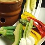 黒き - 新鮮野菜のバーニャカウダー! 女性に大人気の一品です!