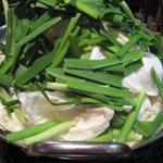 博多屋台 梟 - 「博多屋台 梟」のモツ鍋 味噌を頼んでみました♪
