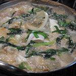 博多屋台 梟 - 「博多屋台 梟」のモツ鍋(味噌)
