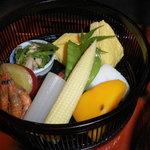 和食彩 白野 - ランチのメインメニュー「彩り弁当」下段