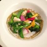 ドクトルカルネ - 季節の野菜畑〜グリーンオリーブソースと一緒に〜900円