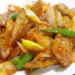 口福飯店 - 揚げ豆腐の四川風煮込み