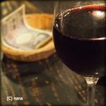 角打ちBarオリーブ - オススメ赤ワイン。ミネストローネに良く合います。