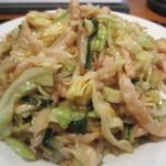 24767491 - 豚肉細切と野菜炒めアップ