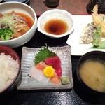 江戸前寿し食べ放題 漁師料理の店 うみめし - 土曜ランチセットの日替わり