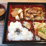 24774938 - 豚ロースの生姜ジャム焼き御膳 880円