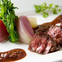 ベジラボ - 牛サガリのロースト 温野菜と特製ステーキソース