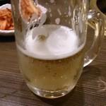 備長炭焼肉 東秀苑 - よいこのビール315円(税込)