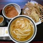 瀬戸内製麺710 - ひやかけ&あなご天と野菜天+@ちくわ天付&大判きつね(H26.3.8)