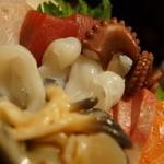 目太間 - ホッキ、タコ、マグロ、サーモン、鯛、カンパチ・・・