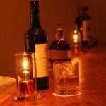 Bar 日向 - クリスタルグラスと丸氷