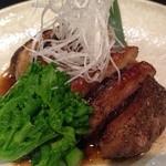 お季味 - 料理写真:鴨と椎茸の挟み焼き