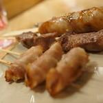24783687 - 新生姜豚巻き、豚タン、肉巻きおにぎり