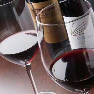 ワインは常時30品ほどセラーに保管不定期再セレクト