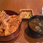 天晶 - サービス天丼