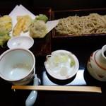 蕎麦 みず野 - 野菜天ぷらとせいろ(十割そば)のセット