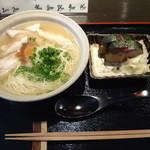 美碧 - 鯖寿司と地鶏梅おろし煮麺