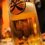 炭焼厨房 笑○ - 生ビール