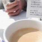 カフェリリオ - 挽きたて湧水コーヒー(350円),ラムレーズンのサンデー(500円)