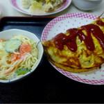 しん - スパサラ・100円オムレツ・280円