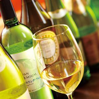 約100種類の豊富なワインメニュー!グラスも25種類!