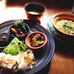 cafe-cafe - ばらんすご飯(ドリンクとスイーツ付き)1250円