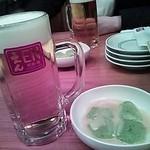 24800573 - ビールとお刺身こんにゃく